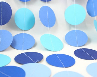 Cape Cod Blue Dots Paper Garland - Party Garland - Birthdays - Celebrations
