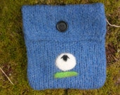 Blue Sheep Felted Bag