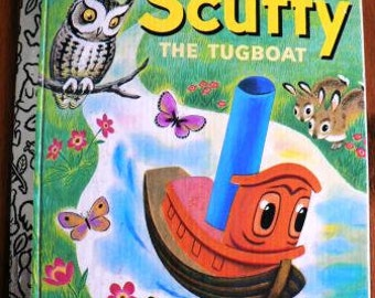 vintage childrens book... SCUFFY The TUGBOAT GOLDEN Book hardcover Book ...