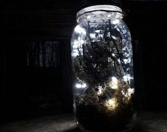 Solar Firefly Mason Jar Lantern-1/2 Gallon