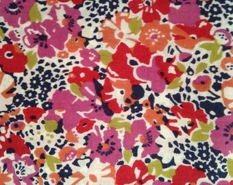 lucy locket - liberty of london - fat quarter - purple, red, apricot, blue and green