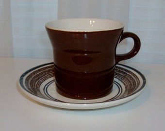 8 Cavalier Ironstone Cups and Saucers by Royal China