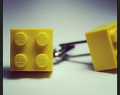 Made from Lego (r) Bright Pee Yellow Cufflinks
