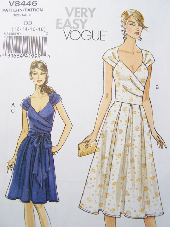 Vogue V8446 Sewing Pattern Women S Wrap Dress By Witsenddesign