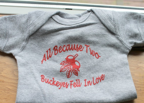 Ohio State Baby Bodysuit All Because Two Buckeyes Fell In Love