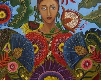 Portrait painting-Gaia-Fine Art Print 11x14