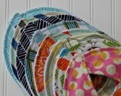 DESIGN YOUR OWN-Set of 5 baby bibs-Choose your fabric