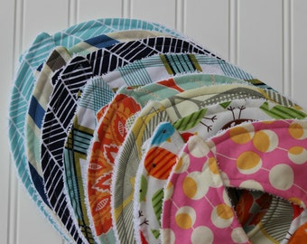 DESIGN YOUR OWN-Set of 3 baby bibs-Choose your fabric