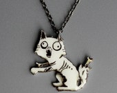 Zombie Kitty necklace