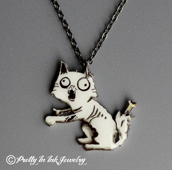 Zombie Kitty necklace
