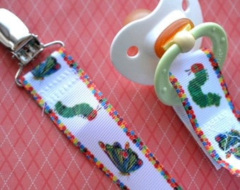 Hungry Caterpillar Pacifier Clip