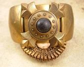 VIntage GOTHIC Vintage Renaissance thick cuff bracelet Medieval