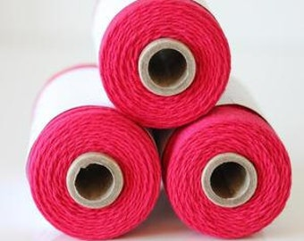 240 Yards (Full Spool) of Bakers Twine . Solid Maraschino Red