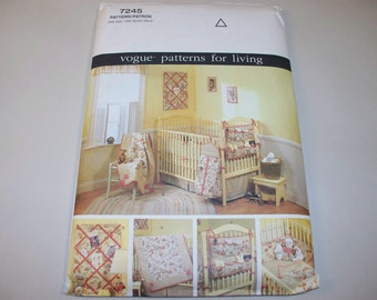 New Vogue Baby Room Accessories Pattern, 7425 (Free US Shipping)