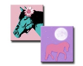 Horses with Flair - 0.83 x 0.75 inches - Digital collage sheet - Instant download