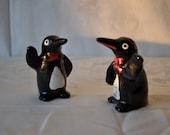 Playful Penguins Vintage Salt and Pepper Shakers