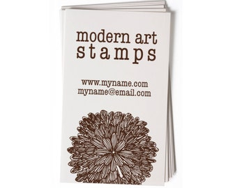 Business Card Stamp   Custom Rubber Stamp   Custom Stamp   Personalized Stamp   Mum Stamp   Flower Stamp   Floral Stamp   BC37