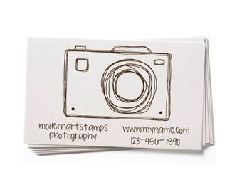 Business Card Stamp   Custom Rubber Stamp   Custom Stamp   Personalized Stamp   Photography Stamp   Photographer Stamp   Camera Stamp   BC56