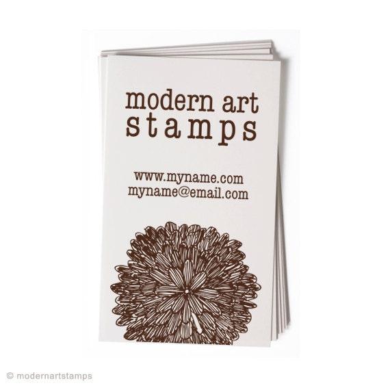 Business Card Stamp   Custom Rubber Stamp   Custom Stamp   Personalized Stamp   Mum Stamp   Flower Stamp   Floral Stamp   BC37