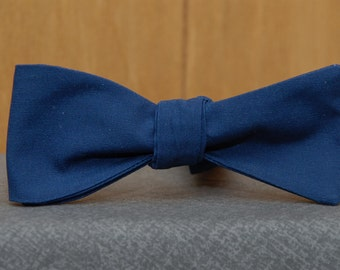 Navy Blue Solid  Bow Tie