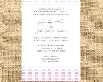 Printable Jillian Invitation
