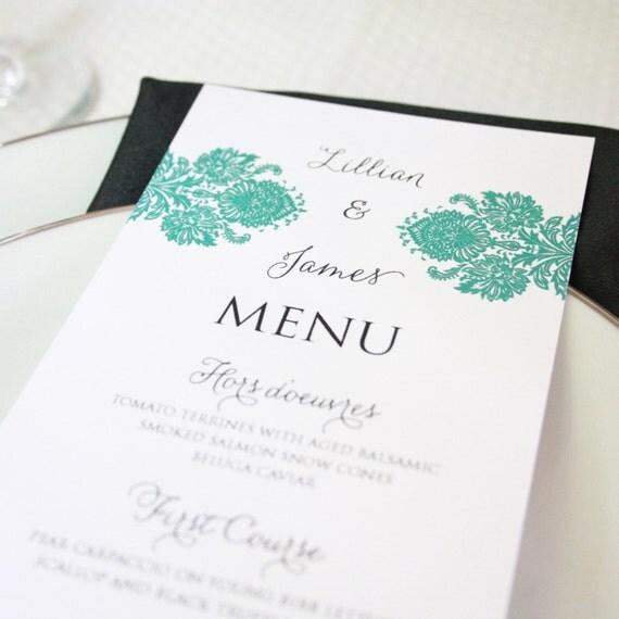 Printable Menu- Choose from 40 designs