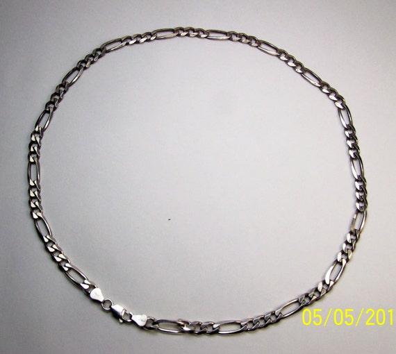 solid sterling silver men 39 s figaro neck chain. Black Bedroom Furniture Sets. Home Design Ideas