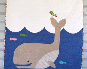 W is for Whale Quilt Pattern