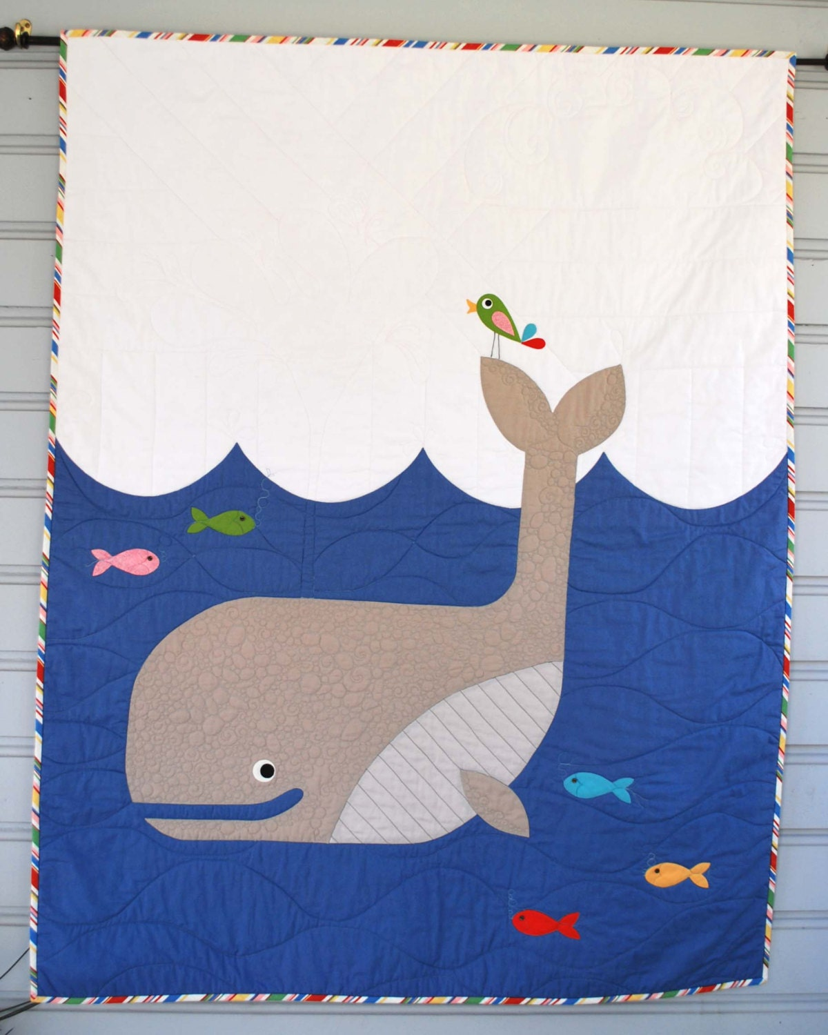 W Is For Whale Quilt Kit With Backing Fabric