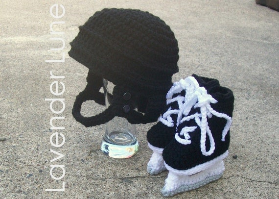 Hockey Knitting Patterns : The Pro Hockey Set Crochet Photo Prop. by lavenderlune on Etsy