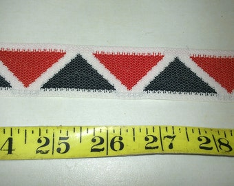 Red White Blue Geometric Flat Trim Insertion BTY
