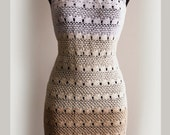 Crochet Pattern . Dress No 233. Sizes XS to XXL