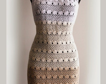 Crochet Pattern . Dress No 233. Sizes XS to XXL