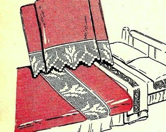 Tulip Filet Bedroom Ensemble Crochet Pattern 723150