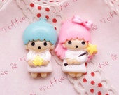 Kawaii Cabochon Boy and Girl Stars Cabochon 6 pc
