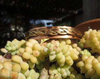 Cuff Bracelet Copper Brass Unisex Vintage Jewelry