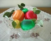 Vintage Artificial Silk/Satin Fruit Decorations - Mix & Match #1