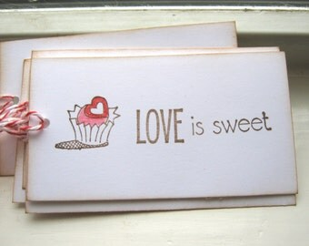 Love Is Sweet Gift Tags, Valentine Gift Tags