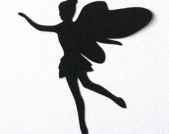 Fairy die cut embellishments in any color set of 6