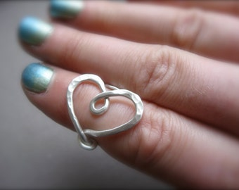 Wrapped around your little finger. My heart that is... Sterling wrap adjustable ring