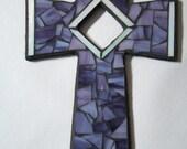 Purple Mosaic Cross