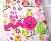 Custom Order for Karli - Baby Shower Guest Book-  Owls