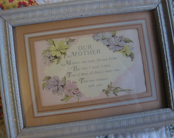 Beautiful Vintage Mothers Day Wall Hanging Plaque