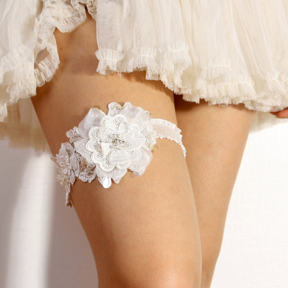 Lace Garter Bridal Garter Wedding Garter Floral Lace By
