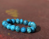 Crazy Lace Agate - Beadwork Bracelet - Blue Jewelry - Natural Gemstone