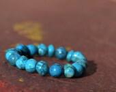Crazy Lace Agate - Beadwork Bracelet - Blue Jewelry - Natural Gemstone