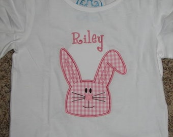 Boutique Custom Personalized Easter Bunny Girls Shirt