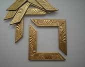6 brass art deco corner brackets, No. 1