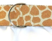 1.5 inch giraffe greyhound martingale dog collar, tan, animal print, elegant, safari, collar with tag keeper--Giraffe
