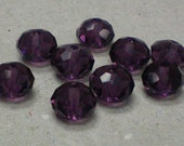 Deep Purple Faceted Crystals